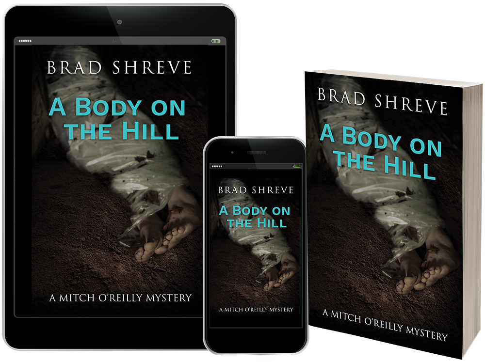 Book cover design for A Body on the Hill