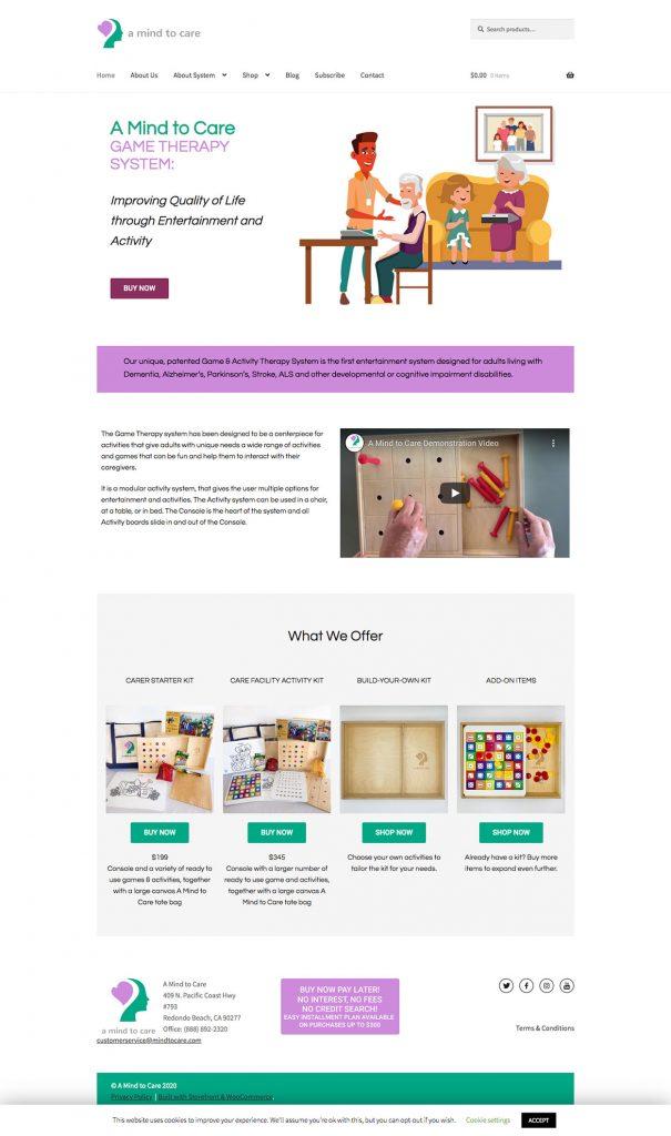 A Mind to Care website design