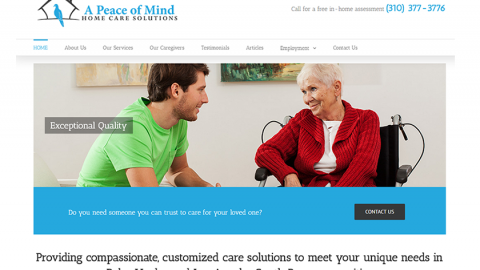 A Peace of Mind Home Care Solutions