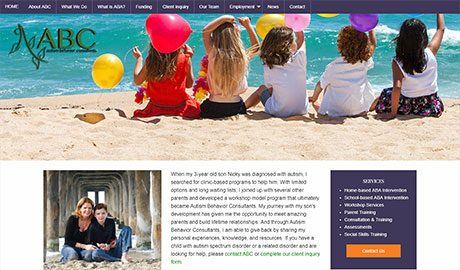 Website redesign for Autism Behavior Consultants in Torrance