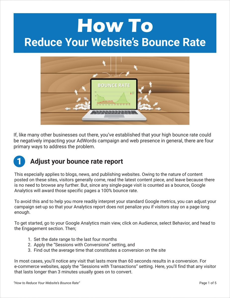How to reduce your websites' bounce rate
