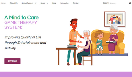 A Mind to Care website by UmeWorks in Torrance