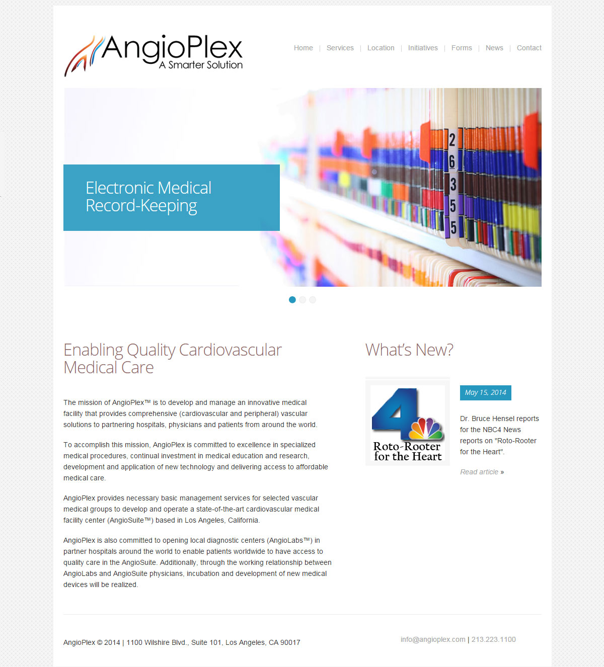 website design for AngioPlex