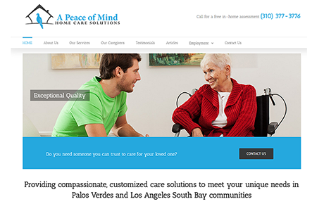 A Peace of Mind Home Care Palos Verdes