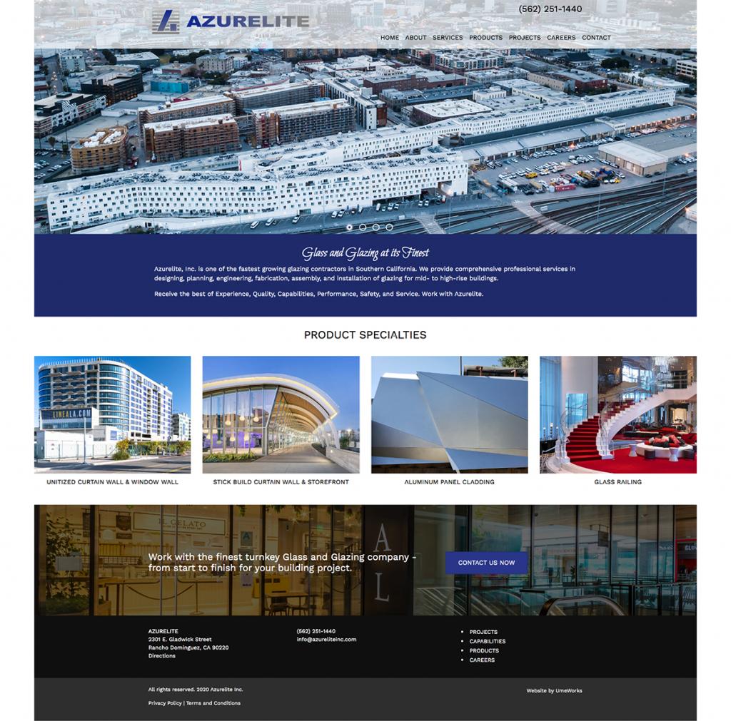 Azurelite Inc. website design