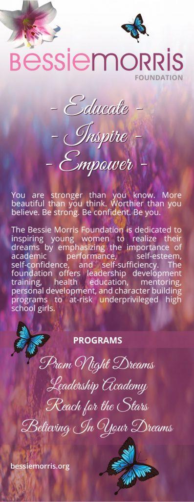 Bessie Morris Foundation community event banner print design