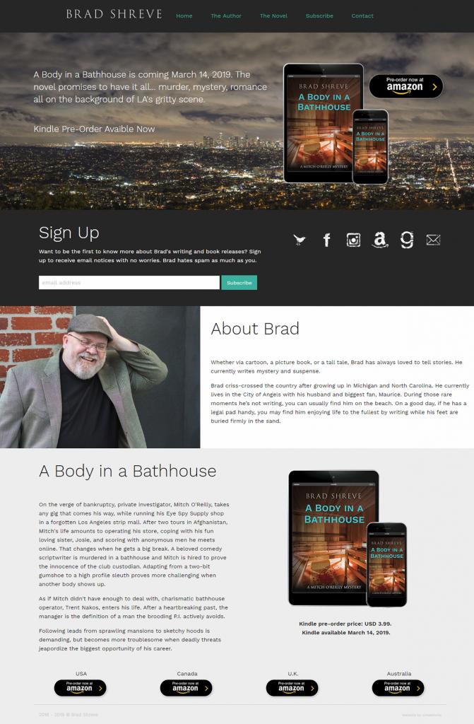 Brad Shreve, Author, website design