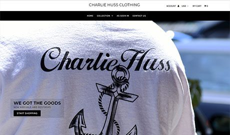 UmeWorks built a Shopify ecommerce website for Charlie Huss clothing.
