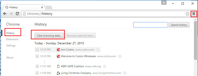 how to clear your cache in Google Chrome