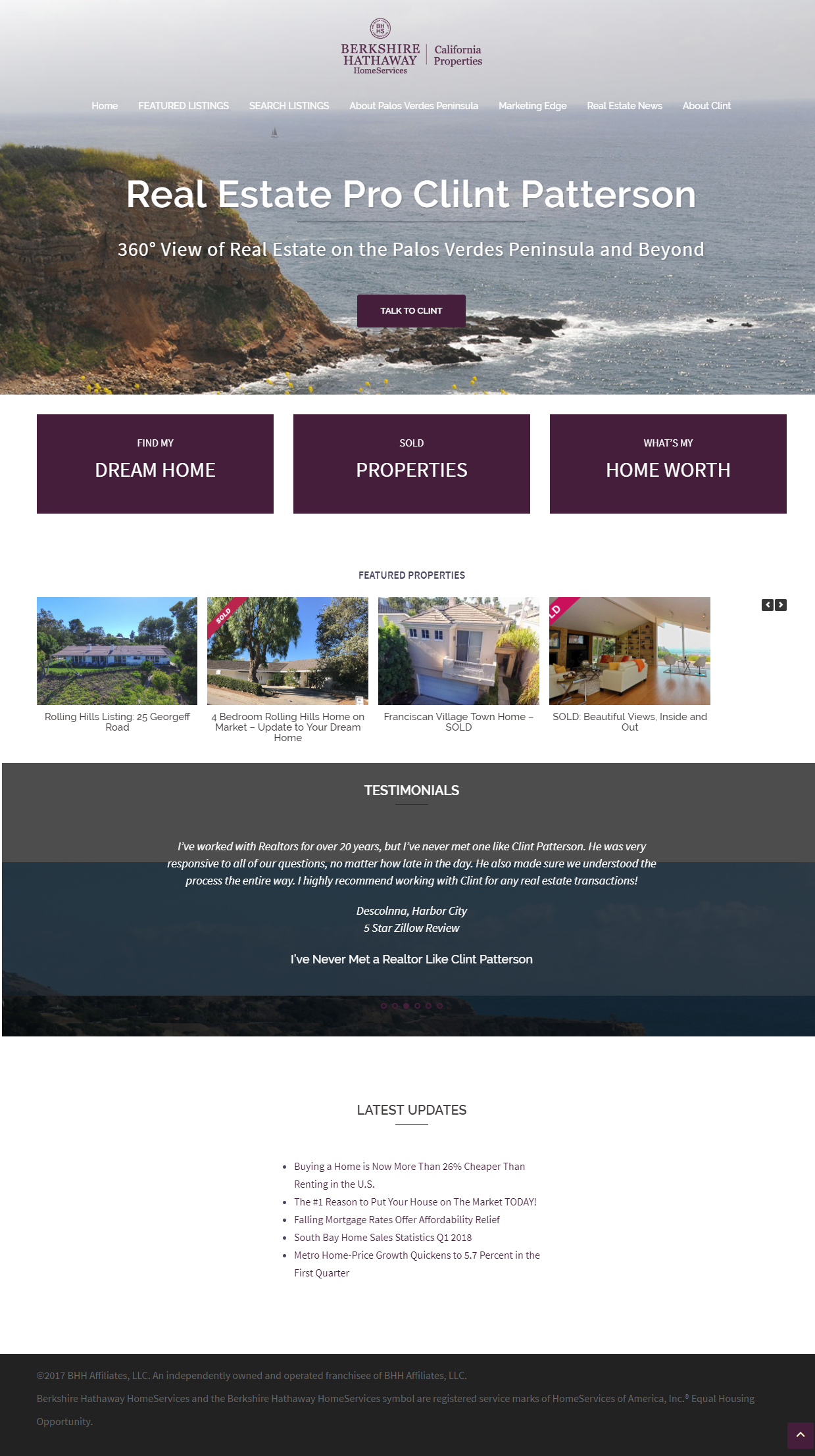 Clint Patterson Realtor in Rolling Hills and Palos Verdes