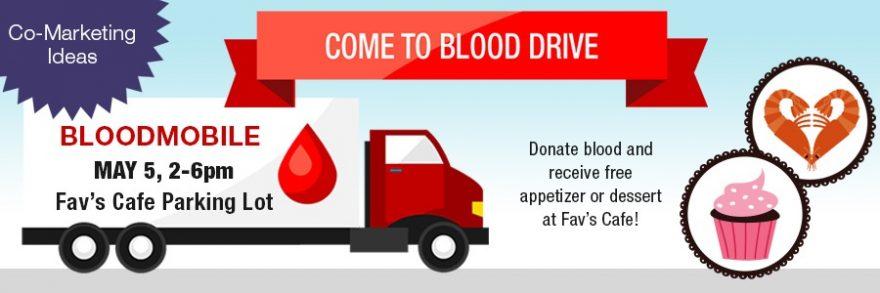 o-market blood-drive banner