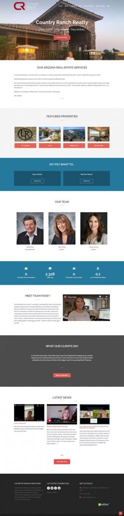 New website design for Country Ranch Realty