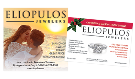 Print ads for Eliopulos Jewelers