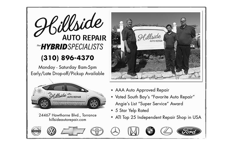 Print ad design for Hillside Auto Repair