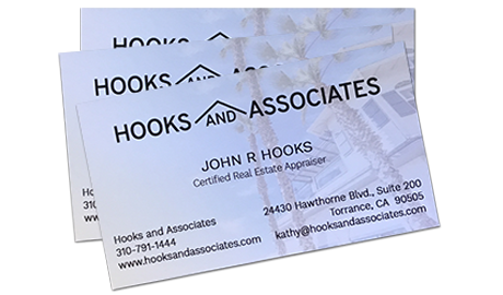 Hooks and Associates business card