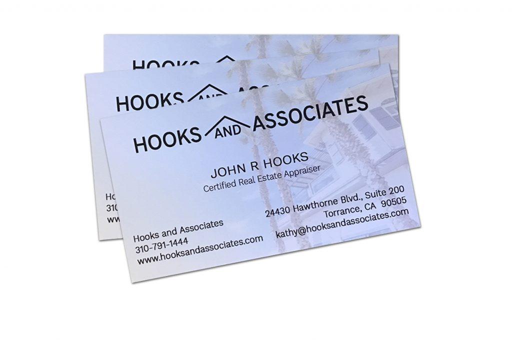 Hooks and Associates business card design
