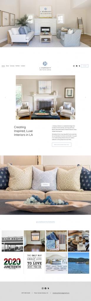 J Harkavy Interiors website design and build