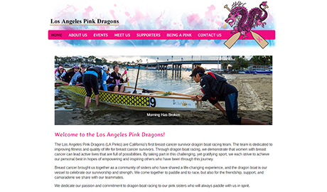 Los Angeles Pink Dragons Team in Long Beach CA