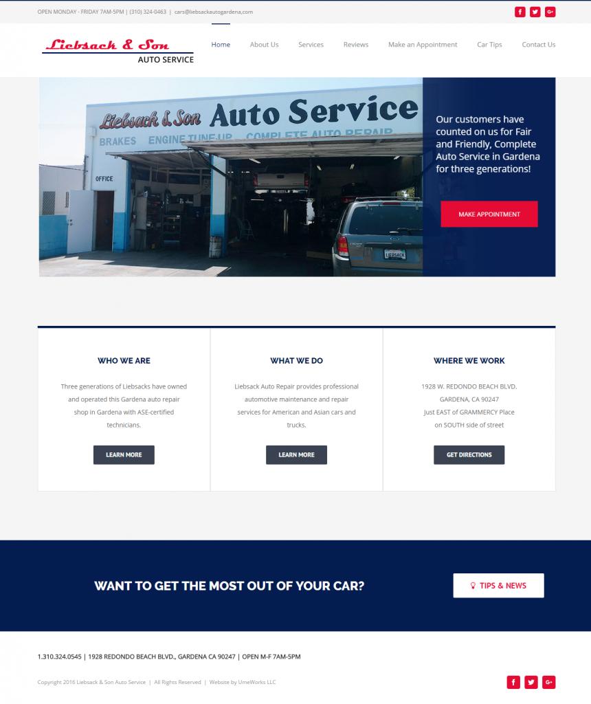Liebsack & Sons website design