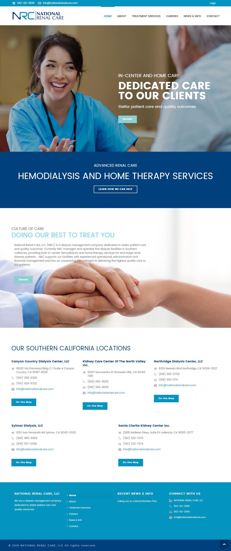 National Renal Care website design