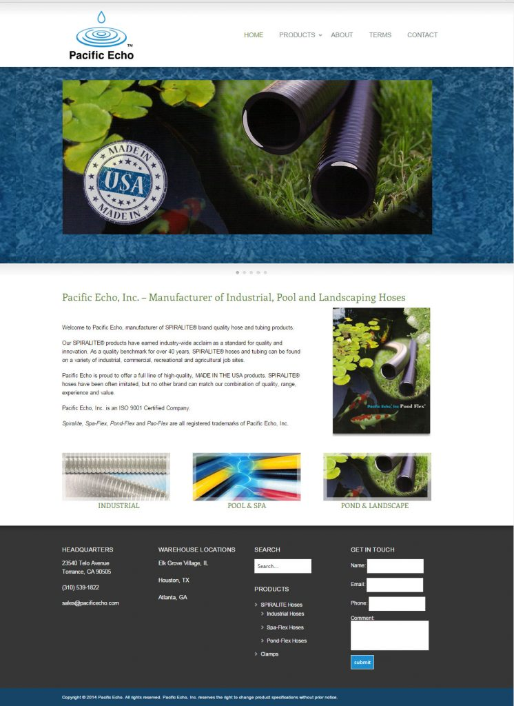 website design and build for Pacific Echo