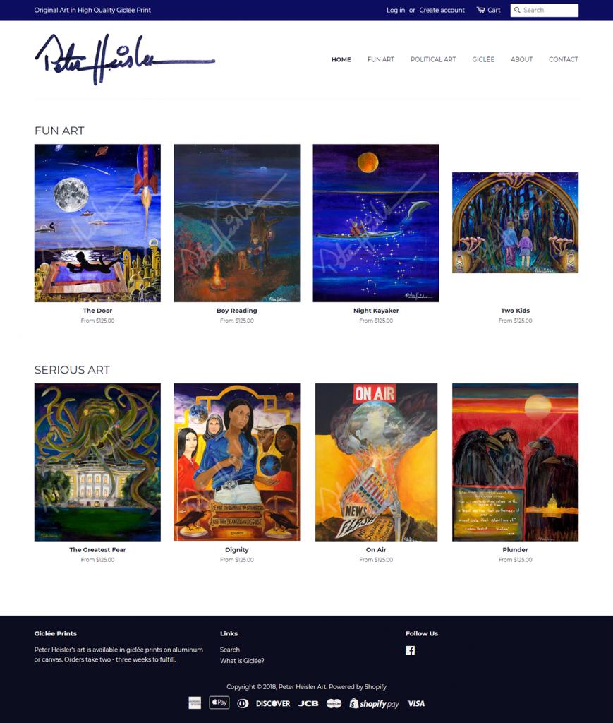 Peter Heisler Art website design