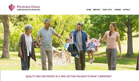 Physicians Choice Home Health website designed by UmeWorks in Torrance