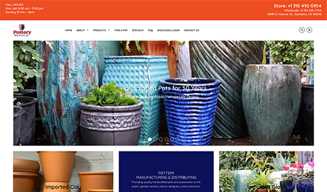 Pottery Mfg. Co. image of website homepage