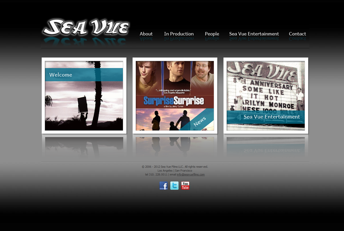 SeaVue Films website design