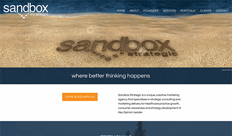 Sandbox Strategic website