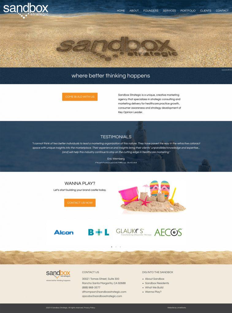 Sandbox Strategic website redesign by UmeWorks