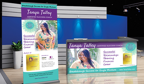 Tanya Talley Success Coach trade show booth
