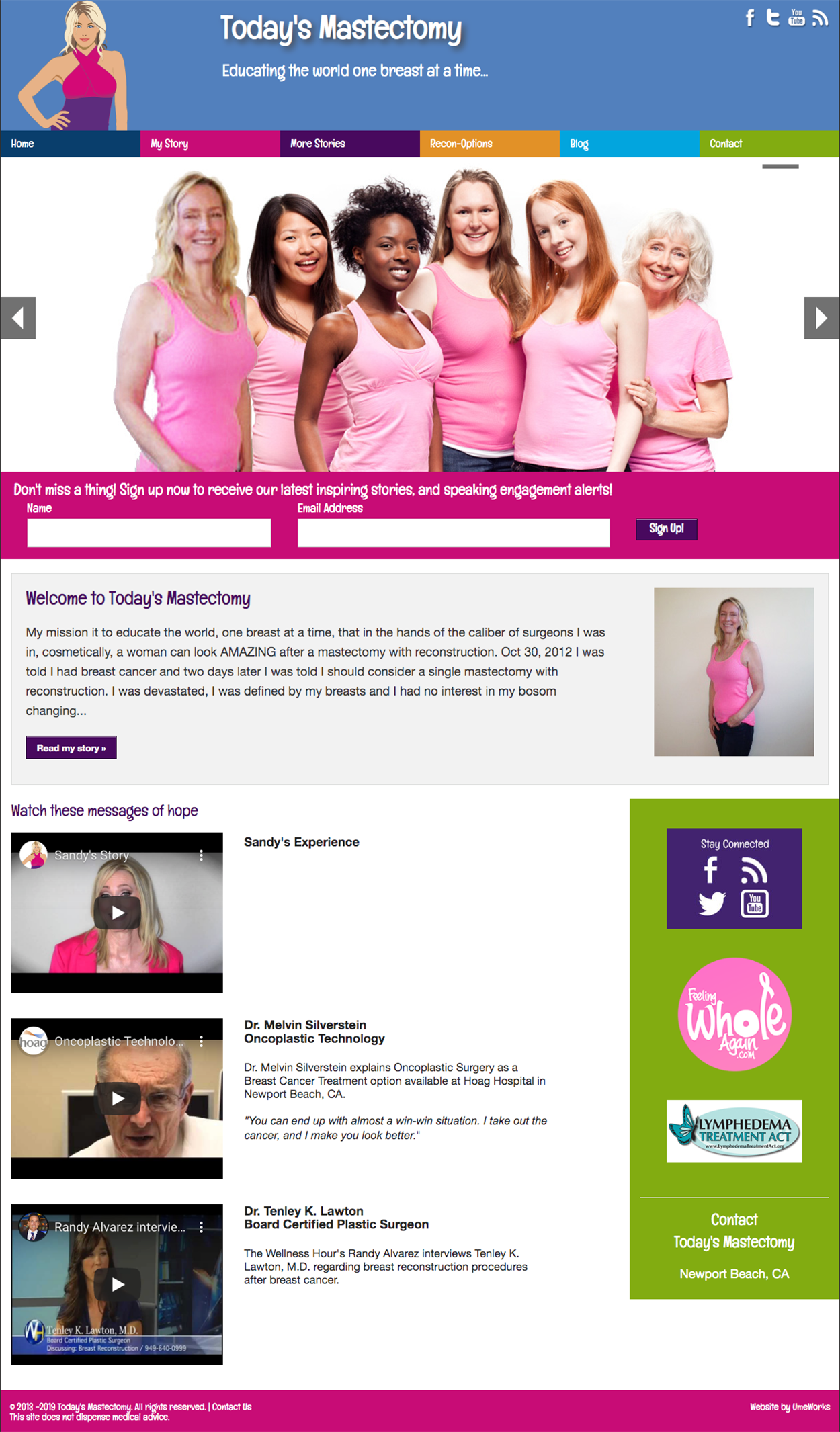 website for Today's Mastectomy