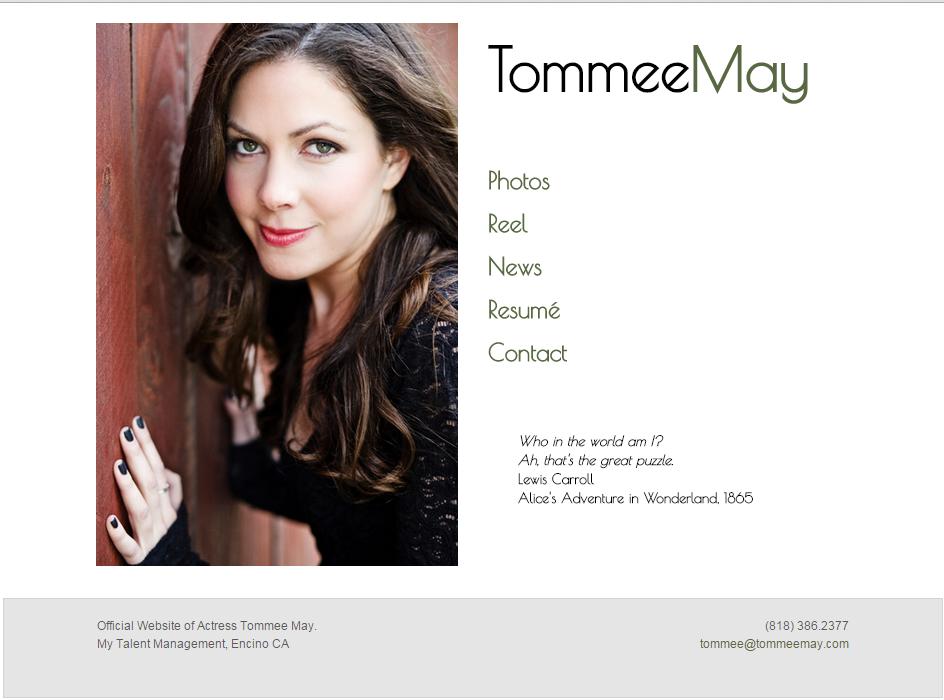 Tommee May website design