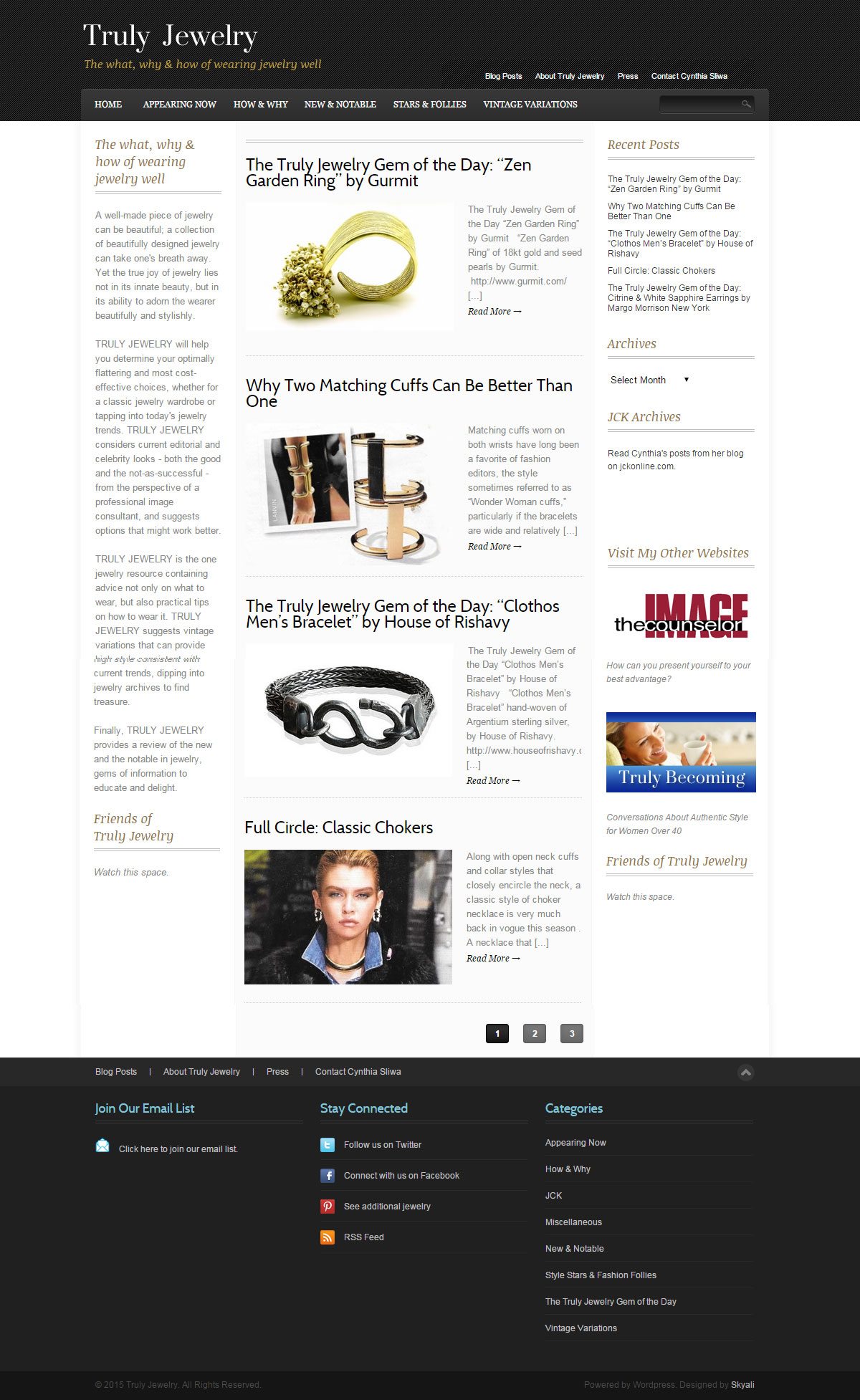 Truly Jewelry Home Page screenshot