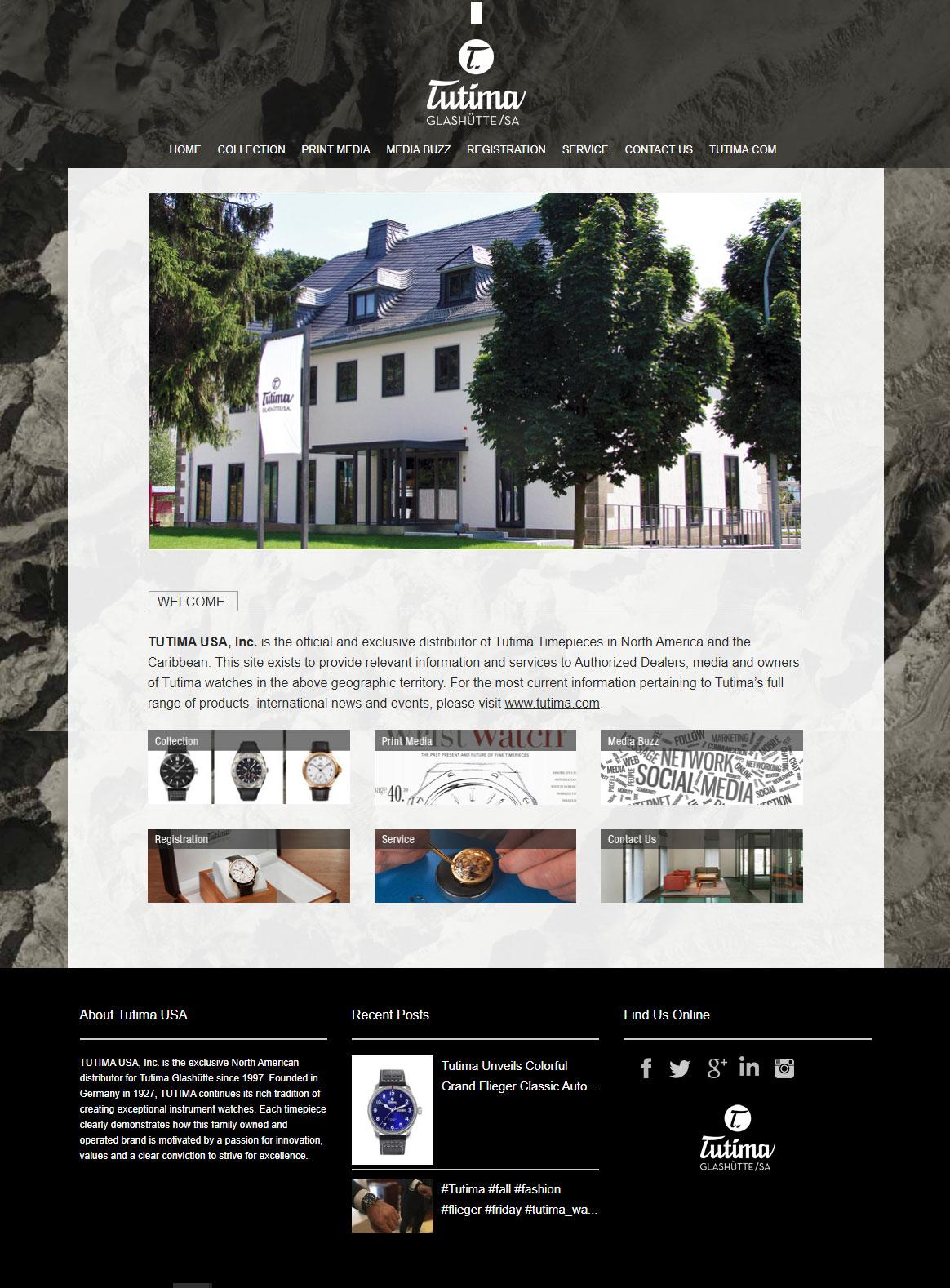 Tutima USA website customization