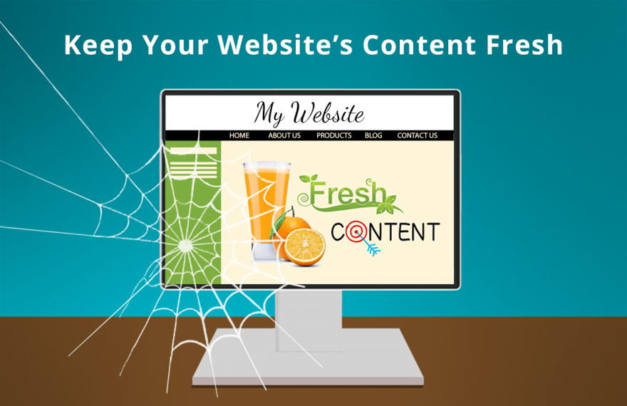 Don't forget to add fresh content to your website