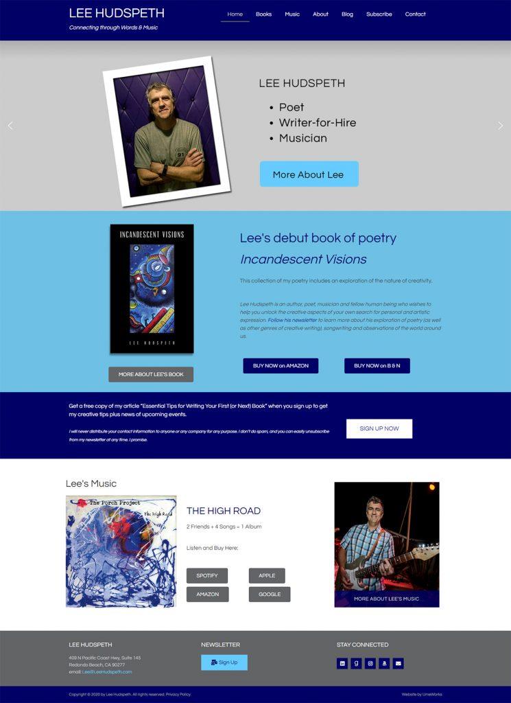 Lee Hudspeth website design