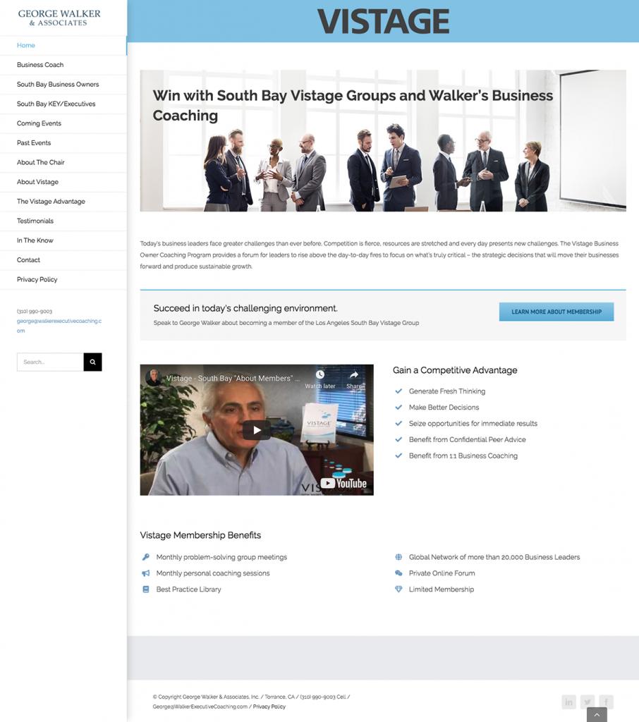 Walker & Associates website design