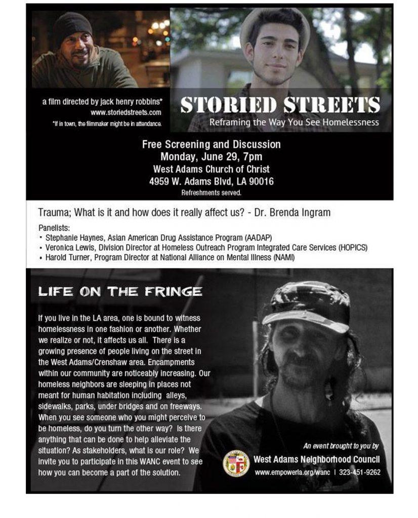 West Adams Neighborhood Council documentary poster design