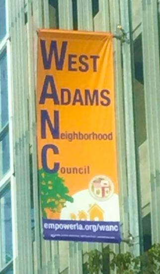 West Adams Neighborhood Council outdoor banner print design