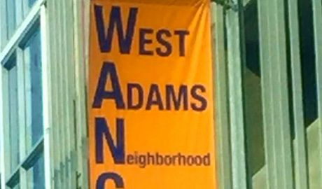 LA West Adams Neighborhood Council pole banner