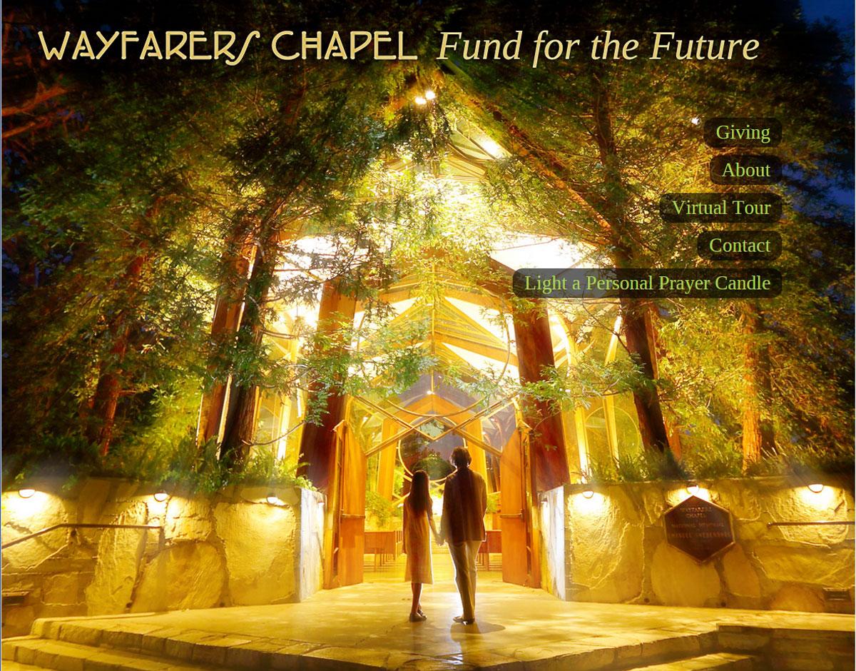 website design and build for Wayfarer's Chapel in Rancho Palos Verdes CA