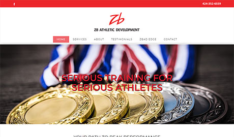 New website design and build for athletic coach in Rancho Palos Verdes